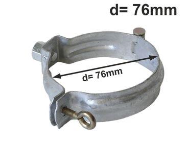 verzinkt Fallrohrschelle mit Mutter M10 d= 76mm, Rohrschellen, Regenrohrschelle