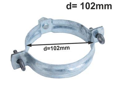 verzinkt Standrohrschelle mit Mutter M10 d=100mm / Rohrschellen