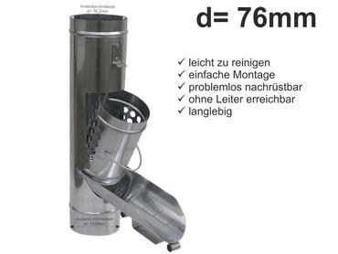 Zink Fallrohr Regenrohrklappe d = 76mm Laubfänger, Laubfangkorb – Bild 1