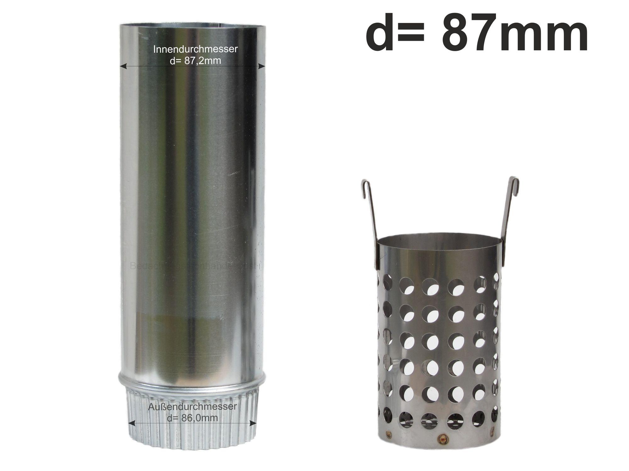 Zink Fallrohr Wasserverteiler Wasserweiche d= 80mm rechts // links