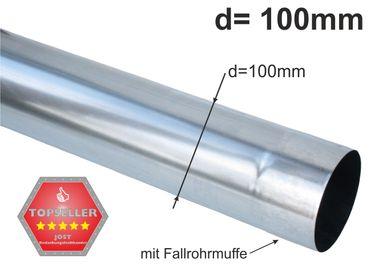 Zink Fallrohr rund d=100mm  2m (1St a'2m)