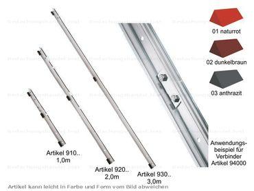 910.. MultiStep Alu-Schienen-Trägerprofil 1 m Farbe 1-3