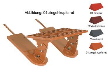 090.. Alu BibStep Dachtritt Kurzrost 46 x 25 cm Farbe 1-4 – Bild 1