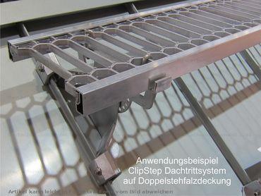 58000 ClipStep Standrost 80 x 25 cm für Stehfalzdeckung Alu-Natur – Bild 2