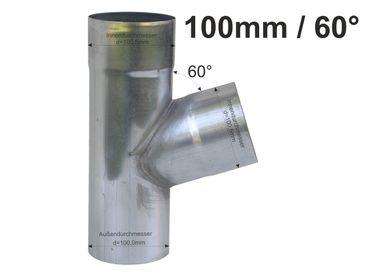 Zink Fallrohr Abzweig d=100mm / 100mm x 60° – Bild 1