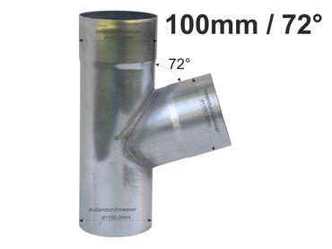 Zink Fallrohr Abzweig d=100mm / 100mm x 72° – Bild 1
