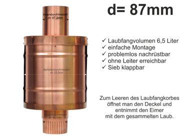Kupfer Fallrohr Laubfang d= 87mm Laubfänger, Laubfangkorb XXL – Bild 1