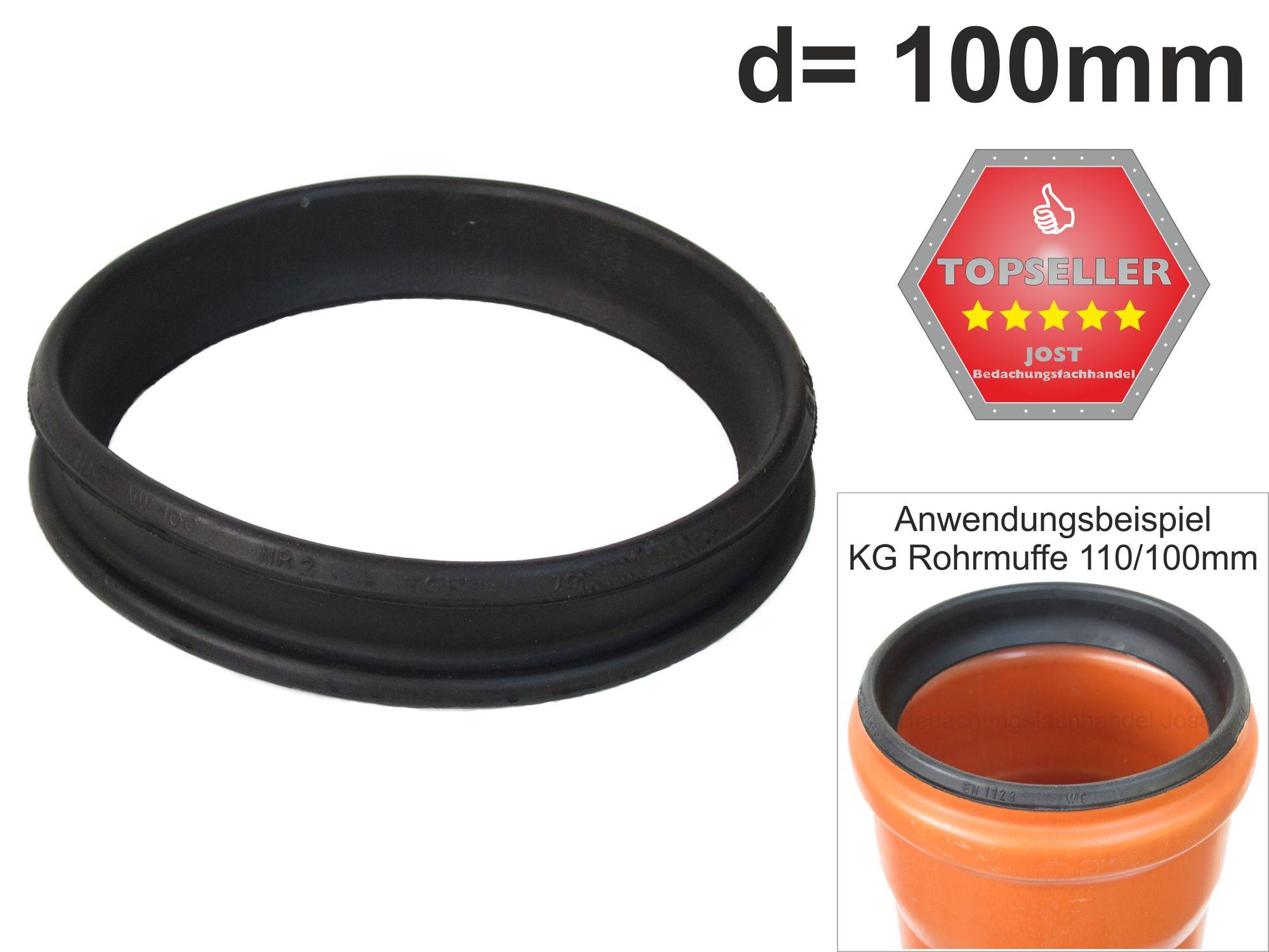 übergangsgummi Kg Rohr 100110mm Standrohr U Fallrohr 100mm