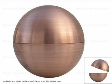 Kupfer Kugel rund  30mm ohne Wulst (2 Halbkugeln)