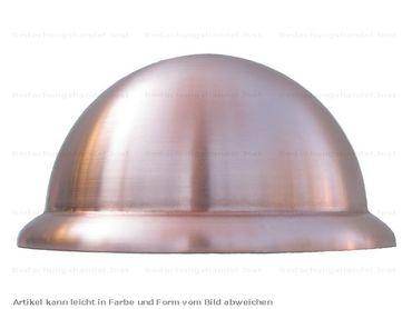 Kupfer Halbkugel rund 120mm mit Wulst (1 Halbkugel)