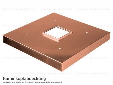 Kaminabdeckung Kupfer 1,5mm Kaminmaß: BxL= 600x1450mm (zzgl. umlaufend 20mm Überstand)