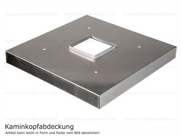 Kaminabdeckung Edelstahl 1,0mm Kaminmaß: BxL= 600x1450mm (zzgl. umlaufend 20mm Überstand)