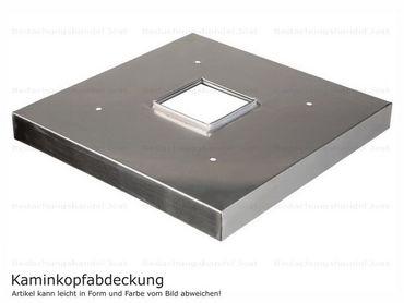 Kaminabdeckung Edelstahl 1,5mm Kaminmaß: BxL= 400x 400mm (zzgl. umlaufend 20mm Überstand)