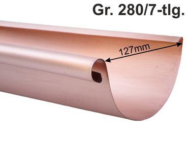 Kupfer Dachrinne halbrund 280/7-tlg.  3m (1St a'3m) – Bild 1