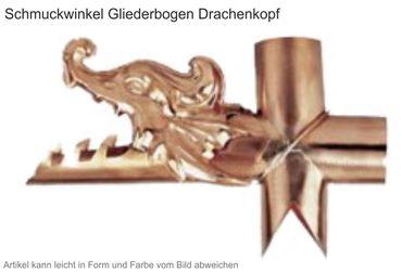 Kupfer Winkelstück  Drachenkopf (Einzelstück ohne Gliederbogen)  – Bild 1