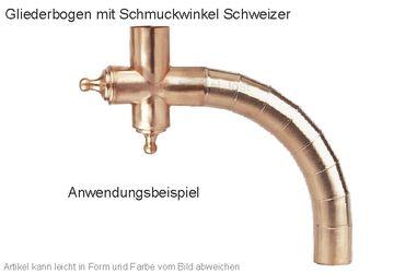 Kupfer Winkelstück Schweizer (Einzelstück ohne Gliederbogen)  – Bild 2