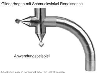 Zink Winkelstück Renaissance (Einzelstück ohne Gliederbogen) – Bild 2