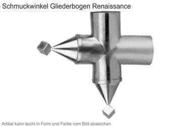 Zink Winkelstück Renaissance (Einzelstück ohne Gliederbogen) – Bild 1