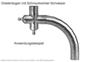 Zink Winkelstück Schweizer (Einzelstück ohne Gliederbogen) – Bild 2
