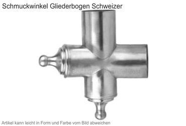 Zink Winkelstück Schweizer (Einzelstück ohne Gliederbogen) – Bild 1