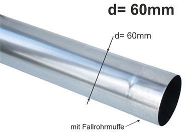 Zink Fallrohr rund d= 60mm  2m (1St a'2m)