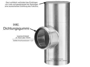 Zink Flachdach Abzweig mit Lochblech vom Grömo – Bild 1