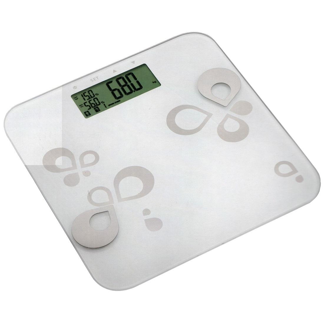 EIE 93111 Körperfettwaage Waterdrops aus Glas