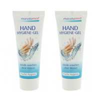 marvitamed Handdesinfektion Hygiene Gel 2x Tube 75 ml mit Aloe Vera