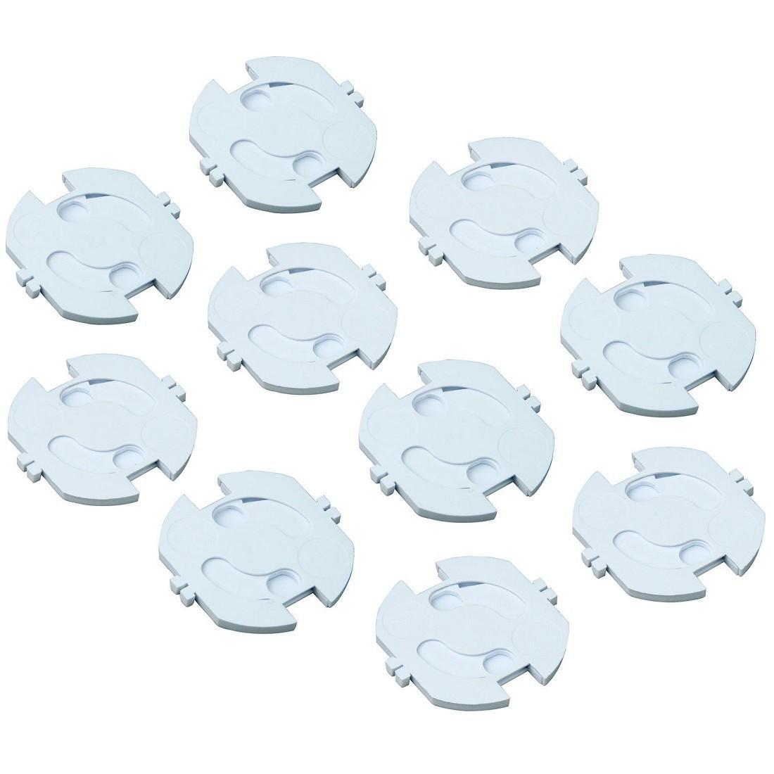 H+H KS 10 Kindersicherung für Steckdosen 10er-Pack selbstklebend