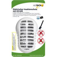 Heitech Elektrischer Insektenschutz-Stecker mit UV-LED TÜV/GS-Zeichen