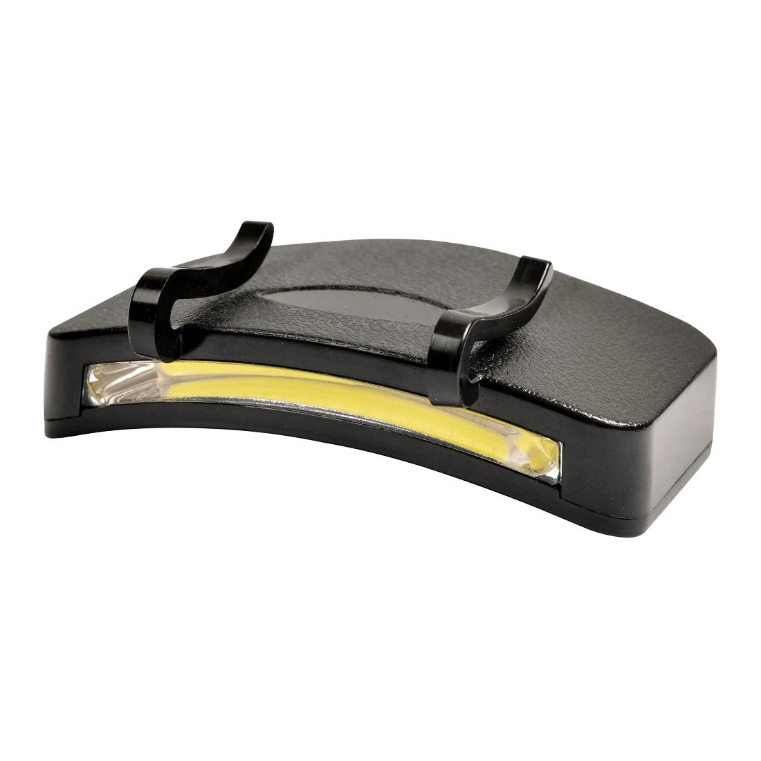 Heitech COB-LED Caplight Kopflampe für Caps inkl. 3 Micro/AAA Batterien