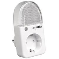Heitech LED-Nachtlicht mit integrierter Steckdose Intertek/GS-Zeichen