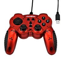 FlashFire USB-Gamepad mit Vibration und 12 Funktionen - rot