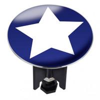 WENKO Waschbeckenstöpsel Pluggy® XL Star - Abfluss-Stopfen, fluoreszierend