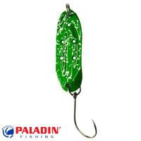 Paladin Trout Spoon IX 2,4g grün-glitter/grün-glitter mit MARUTO® Haken