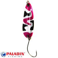 Paladin Trout Spoon VII 3,6g camou-pink-schwarz/camou-pink-schwarz mit MARUTO® Haken