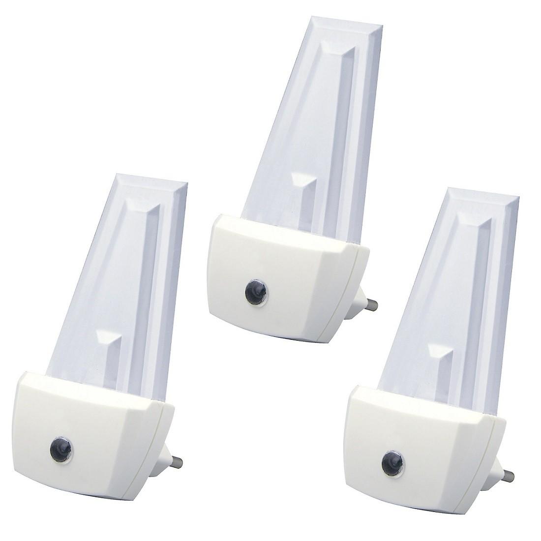 H+H 3 Stück NL 230 Automatisches LED-Nachtlicht mit Sensor
