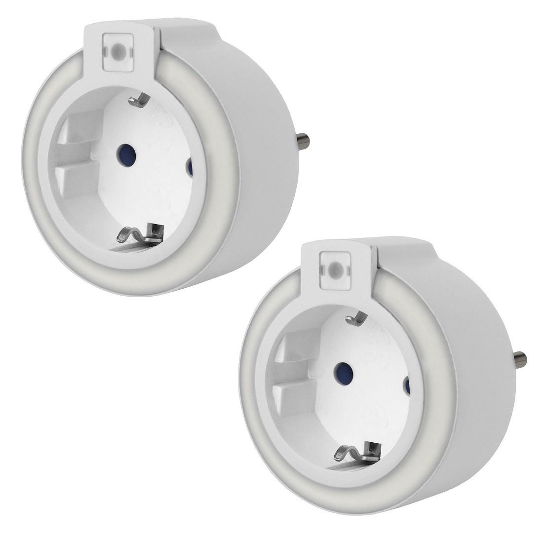 GAO 2 Stk. EMN306 Steckdosen-LED-Nachtlicht mit Dämmerungsautomatik