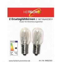 Heitech 2er-Pack Ersatzglühlampen E14 7 Watt