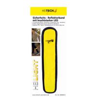 Heitech 4er-Set Sicherheits-Reflektor-Armband mit LED und 3 Leuchtmodi