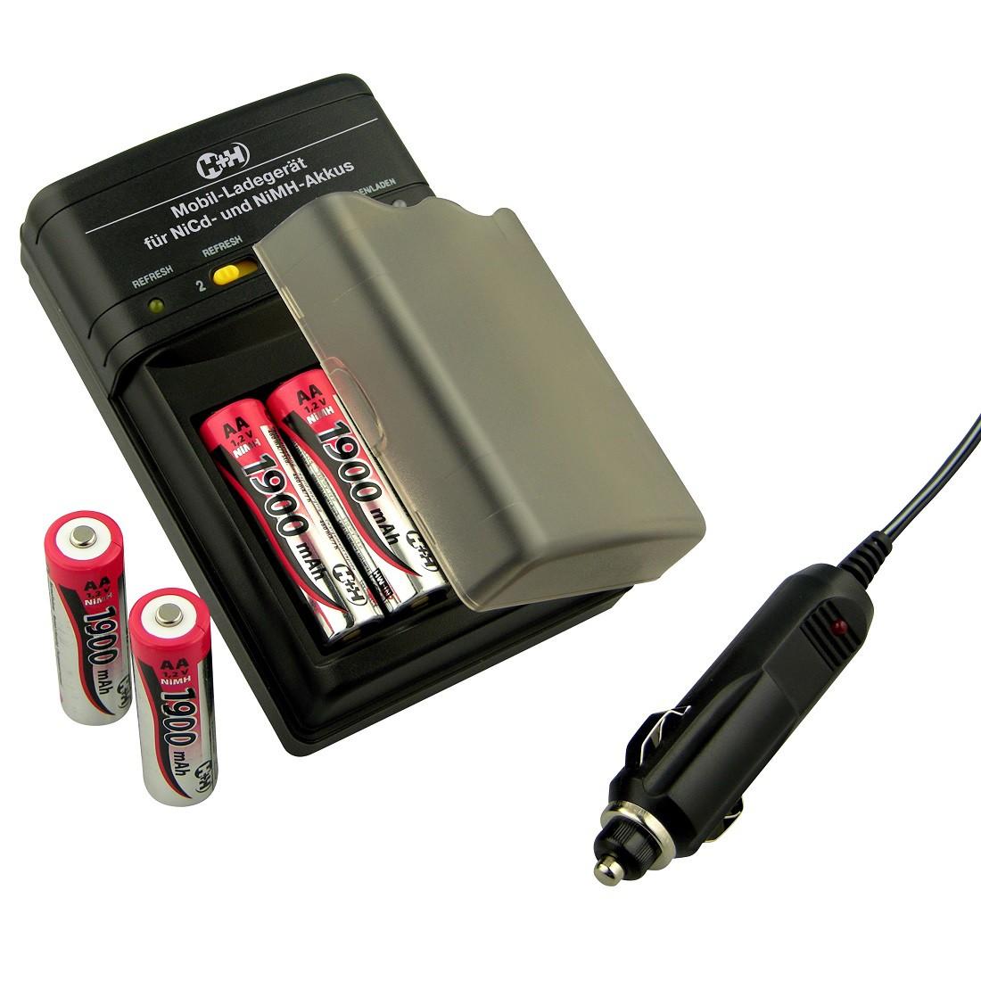 H+H BL 506 Mobil - Ladegerät mit Autoadapter B-Ware
