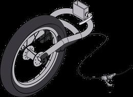 Handbremse mit Joggerrad für Qeridoo - Modelle ab 2014-2016 (Sportrex, Speedkid und KidGoo) Speedkid 2017