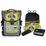 McNeill - 4-teiliges Schulranzen-Set Ergo Pure Flex - Bulldozer