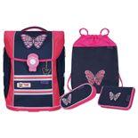 McNeill - 4-teiliges Schulranzen-Set Ergo Primero McLight - Butterfly