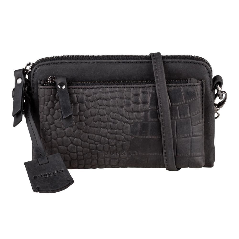 Burkely - Minibag Croco Cody - black