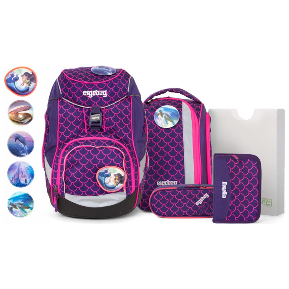 ergobag - 6-teiliges Schulrucksack-Set pack - PerlentauchBär