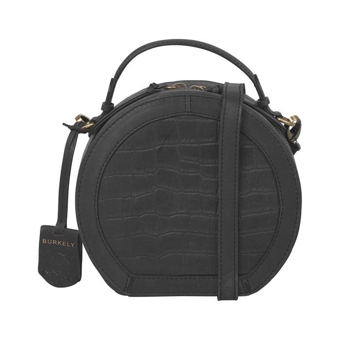 Burkely - Citybag Round Croco Cassy - black