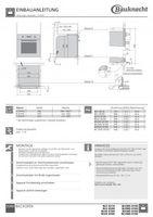 Bauknecht BLVMS 8100 Backofen Euro-Norm Bild 2