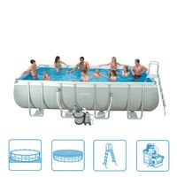 Intex Ultra Quadra Frame Pool 549 x 274 x 132 cm Bild 3