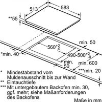 EH640FEB1E iQ100 60 cm Induktions-Kochstelle Bild 4